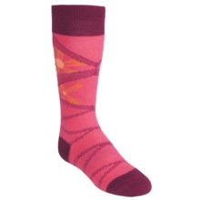 SmartWool Daisy Socks - Merino Wool, Lightweight, Over-the-Calf (For Girls) in Peony - 2nds
