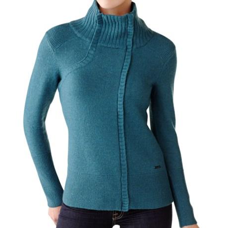 SmartWool Daly Creek Sweater - Merino Wool, Full Zip, Long Sleeve (For Women) in Aegean Heather
