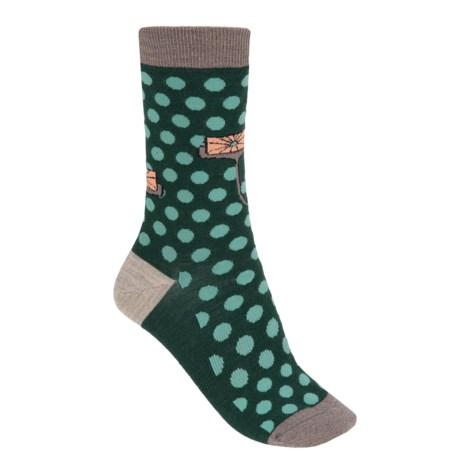 SmartWool Dancing Dots Socks - Merino Wool (For Women) in Bottle Green Heather