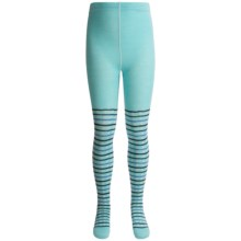 SmartWool Dappled Tights - Merino Wool (For Girls) in Clearwater - 2nds