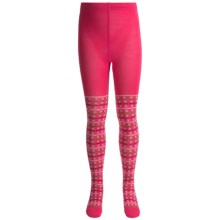 SmartWool Dappled Tights - Merino Wool (For Girls) in Punch - 2nds
