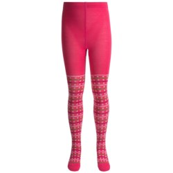 SmartWool Dappled Tights - Merino Wool (For Girls) in Clearwater