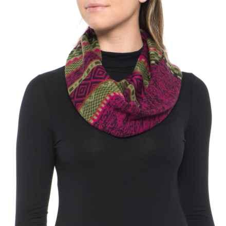 SmartWool Dazzling Wonderland Infinity Scarf - Merino Wool (For Women) in Berry - Overstock