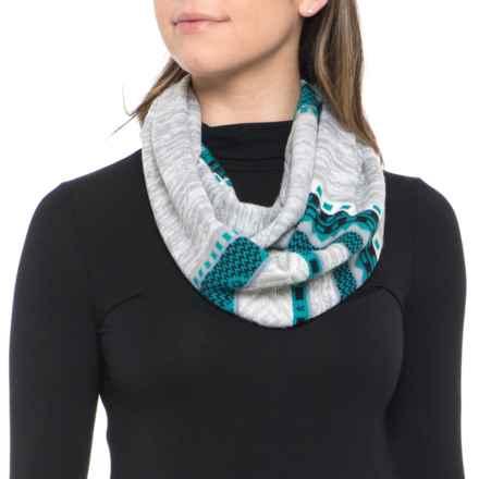 SmartWool Dazzling Wonderland Infinity Scarf - Merino Wool (For Women) in Light Grey Heather - Overstock