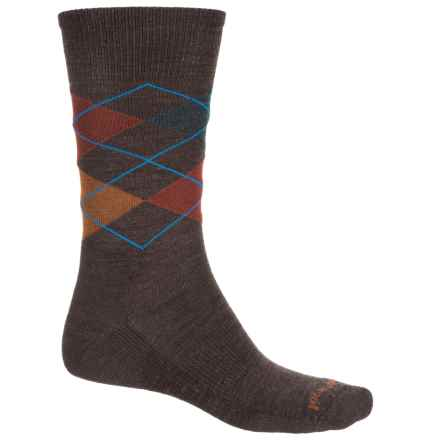 SmartWool Diamond Jim Socks - Merino Wool, Crew (For Men) in Chestnut/Cinnamon - Closeouts