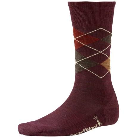 SmartWool Diamond Jim Socks - Merino Wool (For Men) in Aubergine Heather