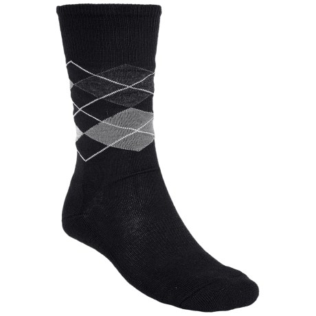 SmartWool Diamond Jim Socks - Merino Wool (For Men) in Black/Medium Gray Heather