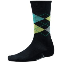 SmartWool Diamond Jim Socks - Merino Wool (For Men) in Black/Smartwool Green - 2nds