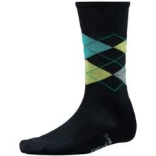 SmartWool Diamond Jim Socks - Merino Wool (For Men) in Black/Smartwool Green - 2nds