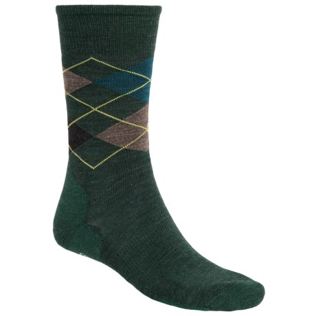 SmartWool Diamond Jim Socks - Merino Wool (For Men) in Bottle Green Heather