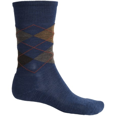 SmartWool Diamond Jim Socks - Merino Wool (For Men) in Cadet Blue Heather
