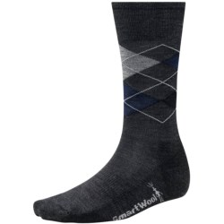 SmartWool Diamond Jim Socks - Merino Wool (For Men) in Charcoal/Deep Navy