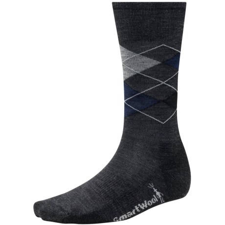 SmartWool Diamond Jim Socks - Merino Wool (For Men) in Charcoal/Deep Navy