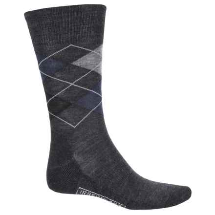 SmartWool Diamond Jim Socks - Merino Wool (For Men) in Charcoal/Deep Navy - 2nds
