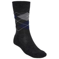 SmartWool Diamond Jim Socks - Merino Wool (For Men) in Taupe Heather