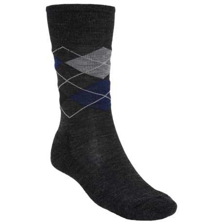 SmartWool Diamond Jim Socks - Merino Wool (For Men) in Charcoal/Navy