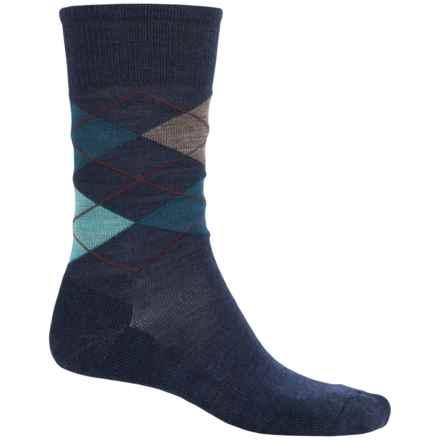 SmartWool Diamond Jim Socks - Merino Wool (For Men) in Deep Navy/Deep Sea - 2nds