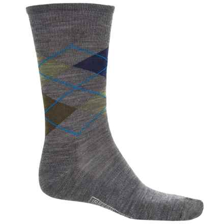 SmartWool Diamond Jim Socks - Merino Wool (For Men) in Deep Navy Heather/Medium Gray Heather - 2nds