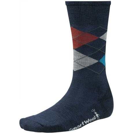SmartWool Diamond Jim Socks - Merino Wool (For Men) in Deep Navy Heather