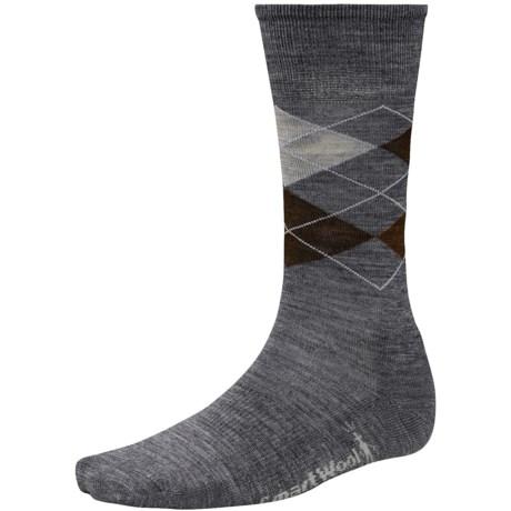 SmartWool Diamond Jim Socks - Merino Wool (For Men) in Medium Grey/Chestnut Heather