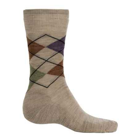 SmartWool Diamond Jim Socks - Merino Wool (For Men) in Oatmeal Heather - 2nds