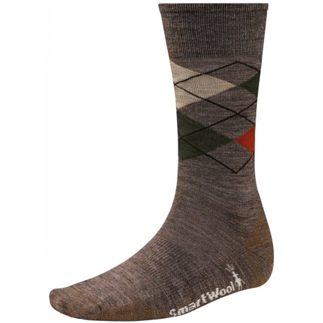 SmartWool Diamond Jim Socks - Merino Wool (For Men) in Taupe Heather