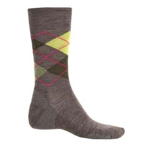 SmartWool Diamond Jim Socks - Merino Wool (For Men) in Taupe/Loden