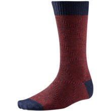 SmartWool Diamond Mirage Socks - Merino Wool, Crew (For Men) in Moab Rust Heather - Closeouts