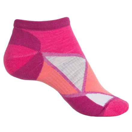 SmartWool Diamond Point Micro Socks - Merino Wool, Below the Ankle (For Women) in Berry - 2nds