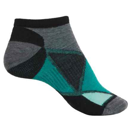 SmartWool Diamond Point Micro Socks - Merino Wool, Below the Ankle (For Women) in Black - 2nds