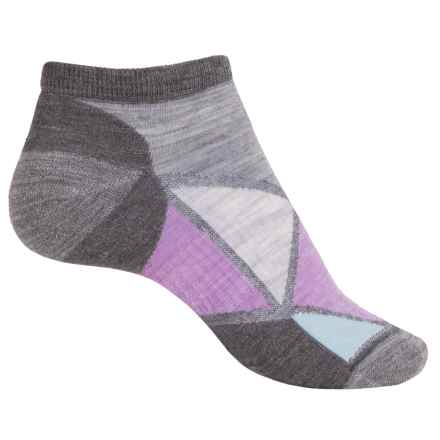 SmartWool Diamond Point Micro Socks - Merino Wool, Below the Ankle (For Women) in Medium Gray - 2nds