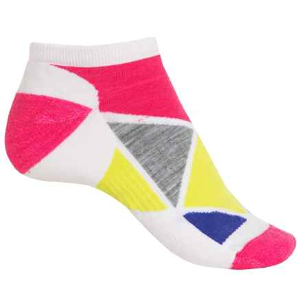 SmartWool Diamond Point Micro Socks - Merino Wool, Below the Ankle (For Women) in White - 2nds