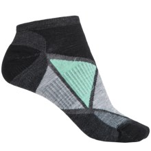 SmartWool Diamond Point Socks - Merino Wool, Below the Ankle (For Women) in Charcoal Heather - Closeouts