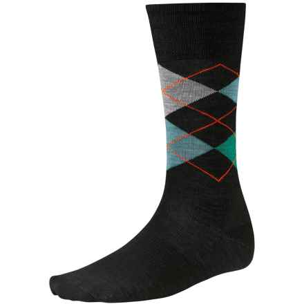 SmartWool Diamond Slim Jim Socks - Merino Wool, Crew (For Men) in Black - 2nds
