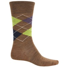 SmartWool Diamond Slim Jim Socks - Merino Wool, Crew (For Men) in Caramel - 2nds