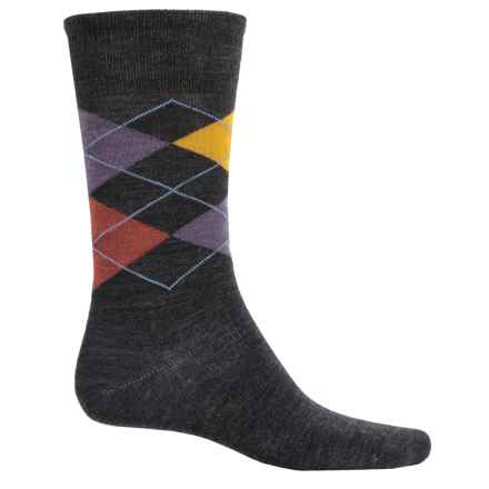 SmartWool Diamond Slim Jim Socks - Merino Wool, Crew (For Men) in Charcoal Heather - 2nds