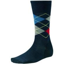 SmartWool Diamond Slim Jim Socks - Merino Wool, Crew (For Men) in Deep Navy Heather - 2nds