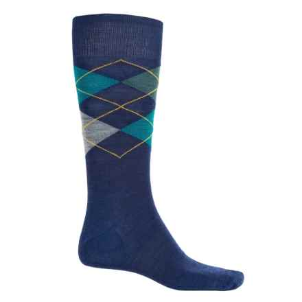 SmartWool Diamond Slim Jim Socks - Merino Wool, Crew (For Men) in Ink Heather - 2nds
