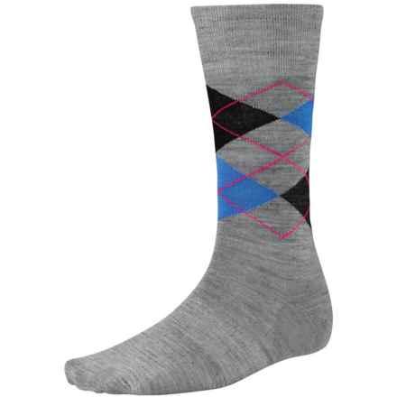 SmartWool Diamond Slim Jim Socks - Merino Wool, Crew (For Men) in Light Gray Heather - 2nds