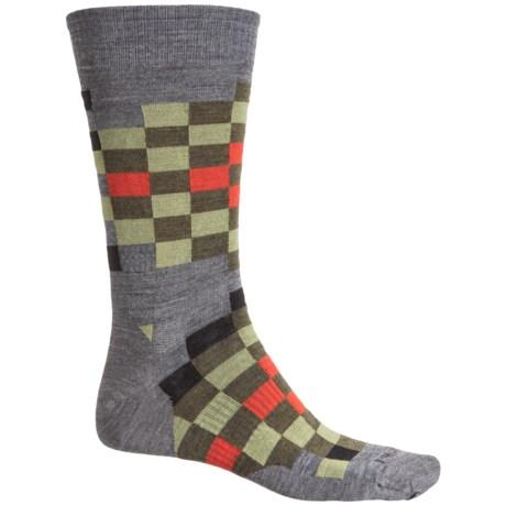 SmartWool Digi Socks - Merino Wool, Crew (For Men) in Medium Grey Heather