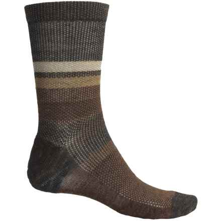 SmartWool Distressed Stripe Socks - Merino Wool, Crew (For Men) in Chestnut Wash - 2nds
