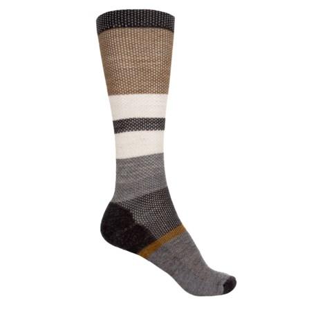SmartWool Distressed Stripe Socks - Merino Wool, Crew (For Men) in Chestnut