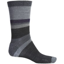 SmartWool Distressed Stripe Socks - Merino Wool, Crew (For Men) in Stone Wash - 2nds