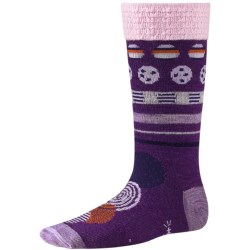 SmartWool Dotty Dot Socks - Merino Wool (For Kids) in Purple Dahlia Heather
