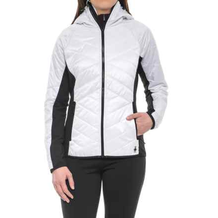 SmartWool Double Corbet 120 Hooded Jacket - Merino Wool, Insulated (For Women) in Black/White - Closeouts