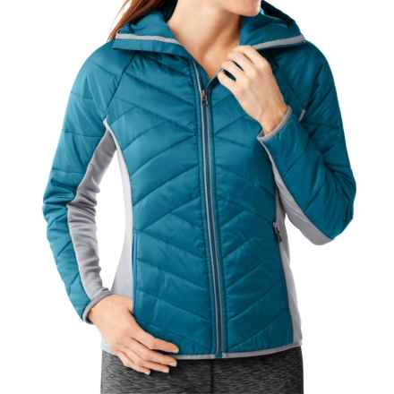 SmartWool Double Corbet 120 Hooded Jacket - Merino Wool, Insulated (For Women) in Glacial Blue - Closeouts