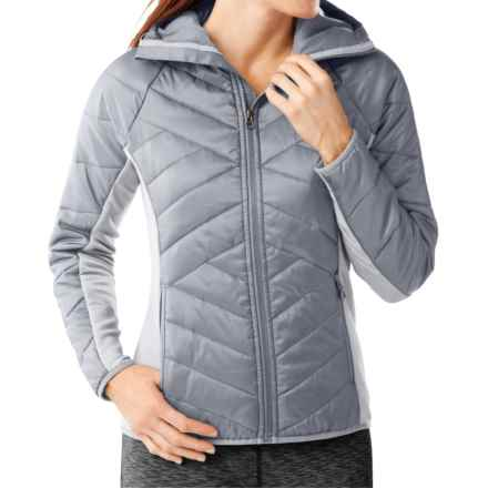 SmartWool Double Corbet 120 Hooded Jacket - Merino Wool, Insulated (For Women) in Silver - Closeouts