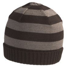 SmartWool Double Insignia Beanie Hat - Merino Wool (For Men and Women) in Taupe Heather - Closeouts