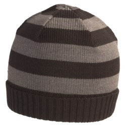 SmartWool Double Insignia Beanie Hat - Merino Wool (For Men and Women) in Taupe Heather