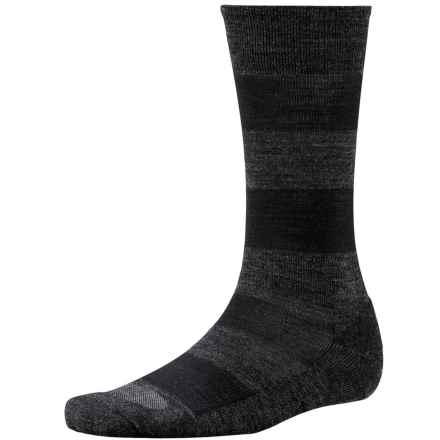 SmartWool Double Insignia Socks - Merino Wool, Crew (For Men) in Charcoal Heather - Closeouts